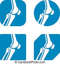human knee joint icons - illustration for the web