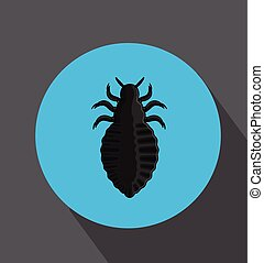 Human Lice Insect Vector Illustration