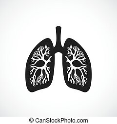 Human lungs anatomy vector icon isolated on white background