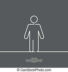Human male sign icon.