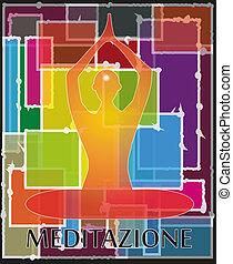 human meditate