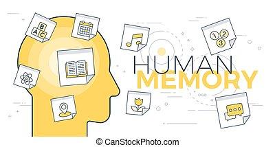 Human memory concept
