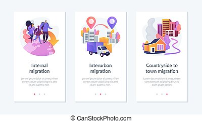 Human migration app interface template. - International and ...