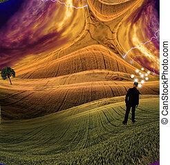 Human Minds - A Human Mind Abstract Composition