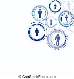 Human model connection . Abstract technology vector for you.