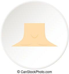 Human neck icon circle
