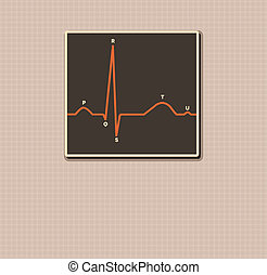Human normal heart rhythm vintage design