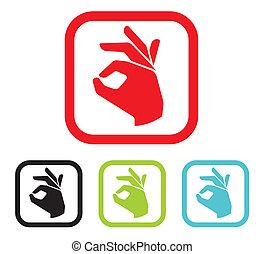 human okay hand sign