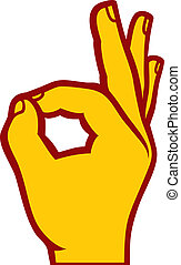 human okay hand sign (OK hand symbol, OK symbol, OK sign ...