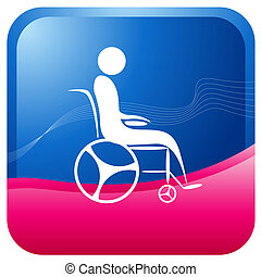 human on a wheel chair