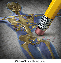 Human Osteoporosis - Human osteoporosis symbol of...