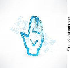 human palm grunge icon