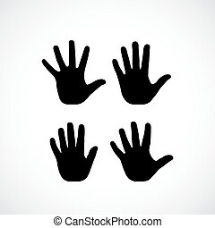 Human palm hand vector silhouette
