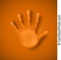Human palm - Isolated human palm, eps 10