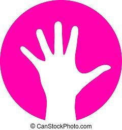 Human palm vector icon