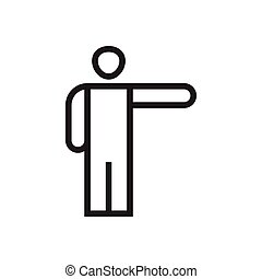 Human pose icon graphic design template vector