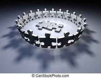 Human puzzle pieces