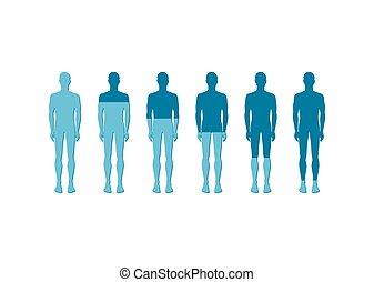 Human Quantitative Rate Icon Vector Illustration - Human...