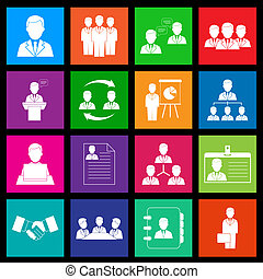 Human resource and management icons