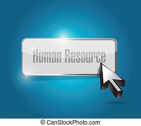 human resource button illustration