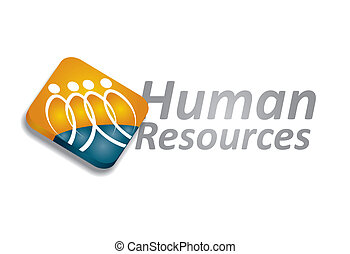 Human resource concept - abstract illustration with...