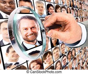 Human resource concept,