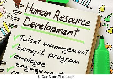 human resource development - Sign human resource development...