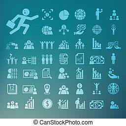 Human resource icons  Retina Vector set