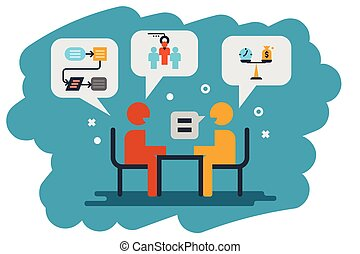 human resource, interview icon illustration