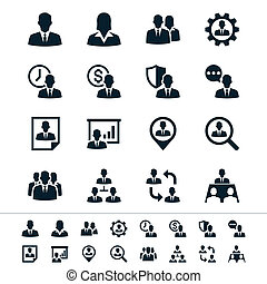 Human resource management icons - Simple vector icons. Clear...