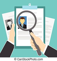 human resource recruitment and selection vector illustration