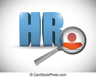Human resource review illustration design