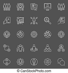Human resources and business icons