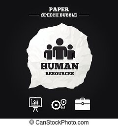 Human resources and Business. Presentation board