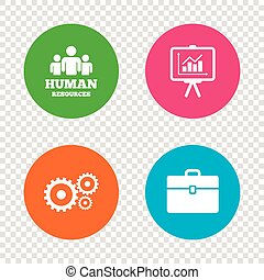 Human resources and Business. Presentation board.