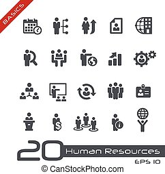 Human Resources and Business - Vector icons for your web or...