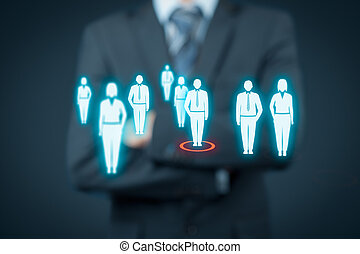 Human resources and leader - Human resources officer choose...