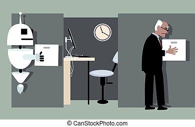Human resources attrition - Robot replacing a senior...