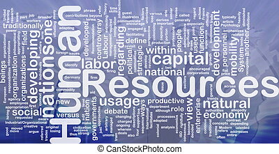 Human resources background concept
