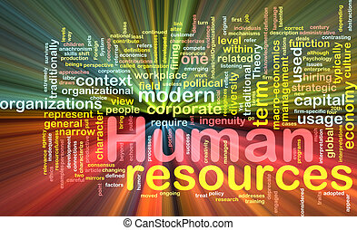 Human resources background concept glowing - Background...
