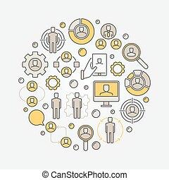 Human resources circular illustration