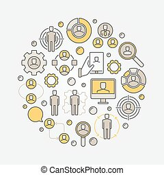 Human resources circular illustration