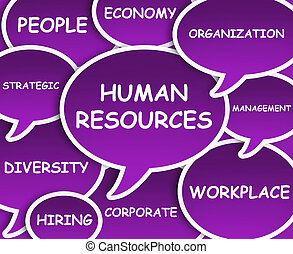 Human Resources cloud - Illustration of clouds about Human...