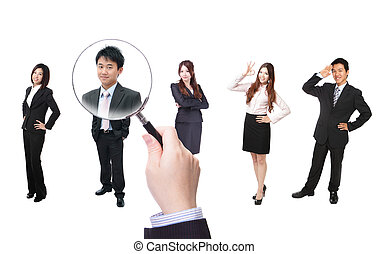 Human Resources concept, choosing the perfect candidate for...