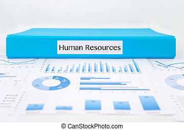 Human resources concept with graph analysis and business reports