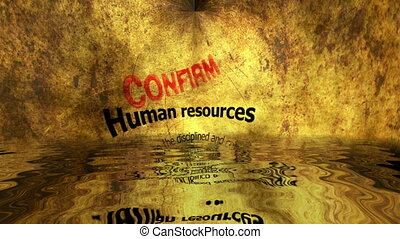 Human resources confirm  reflected in water