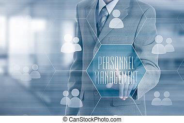 Human resources, CRM. Concept personnel management.