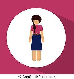 Human Resources design - Humain Resources design over pink...
