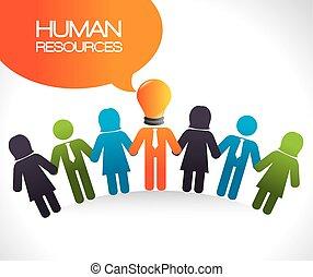 Human resources design. - Human resources design, vector...