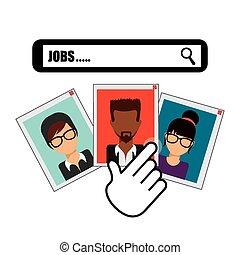 human resources design, vector illustration eps10 graphic